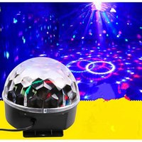applied strobe - 2pcs stage magic crystal ball light lamp High quality laser remote control sound stage light apply to the KTV party disco laser