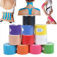 Wholesale Colorful bandage Kinesiology Sports Therapy Tape m x cm Kinesiology Sports Health Muscles Care Physio Therapeutic Tape