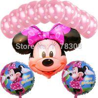 balloon wedding theme - 13pcs Mickey festa Minnie theme party decorations balloons Wedding decorations birthday party decorations latex foil balloons