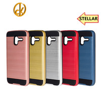 alcatel mobiles phones - 2016 Newest Shockproof metelic in hybrid mobile phone case for alcatel stellar fast shipping DHL