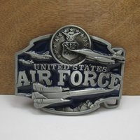 air force belts - United States Air Force belt buckles Military Tactical fashion Survival silver model belt buckleTexas Mens Western Turbo Nos