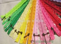 Wholesale CM Lace Zipper Antique Bronze puller colors mixed flower novelty