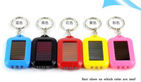 Wholesale Christmas Gifts LED keychain flashlights Multi color Solar Power Green Eco friendly Flashlight For Wedding Bridal shower Gifts