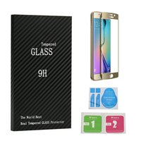 Wholesale Tempered Glass D Curved Full Coverage With Wooden Package For Iphone Plus S7 Edge S6 Edge Plus Colorful And Full Clear