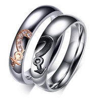 Wholesale Stainless Steel Rings For Couple Wedding Party Gift Korean Style New Fashion Boy Girl Men Women Jewelry