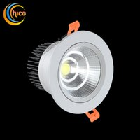 bathroom sink knobs - LED Downlight W W W W Dimmable Ceiling lamp AC85 V White Warm white COB LED Down Lamp Aluminum Heat Sink convenience lamp