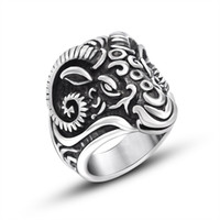best mens rings - Custom Charm Goat Head Cluster Ring Silver Plated Stainless Steel Rings Best Sellers Foundry Mens Ring For Men Hip Hop Jewelry