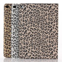 Wholesale New Leopard Pattern Smart High quality PU Leather Case Sleep Cover For Apple iPad air Inch Flip Stand Cases