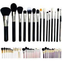angled eyeshadow brush - High Quality set Professional Make Up Tools Cosmetics Eyeshadow Blend Shadow Angled Eyeliner Smoked Bloom Makeup Brushes Set