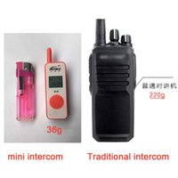 Wholesale Mini Walkie Talkie portable intercom handy two way radio UHF interphone for hotel restaurant hospital farm