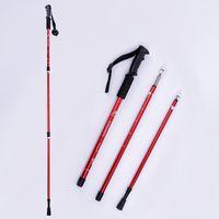 alloy aluminium grip - Hot Sale Ultra light Adjustable Walking Poles Trekking Climbing Hiking Walking Stick Aluminium Alloy Cane Camping Tool MA0065 smileseller