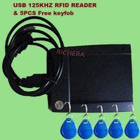 Wholesale khz USB RFID ID Contactless Proximity Smart Card Reader Read First Digital EM4100 Windows High Quality Free Keyfob