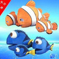 Wholesale Clown Stuffed Toy - 2016 Movie Finding Dory Stuffed Animals Plush Toys Dolls From Movie Finding Nemo 2 Clown Fish Figure Doll Toys Figures Toys Free shipping
