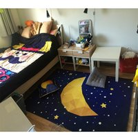 Wholesale Moon and stars patten ground mat for living room big size foot mat for door geometric carpet cm cm