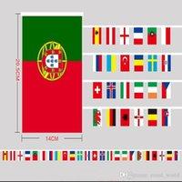 al por mayor decoración de centro comercial-Top 24 teams national string flags 2016 Campeonato Europeo de Fútbol bandera decoración para bar party shopping mall