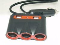 Wholesale 120W Car Cigar Lighter Charger Socket Splitter V V Car Cigar Lighter Socket Double Dual Adapter Splitter