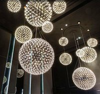 Wholesale LED Spain Moooi Raimond Pendant Lights Moooi Chandelier Lights Spark Globe Pendant Lamp Stainless Steel Spark Chandelier Spark Drop Light