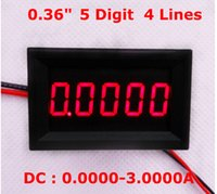 Wholesale Top Quality bit DC A Red LED Display Digital Ammeter amperimetro Car current meter Brand New