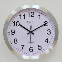 aluminum wall clocks - 2016 new disign European style wall clock Seiko clock movement wall clock wall decor aluminum clock