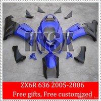 Wholesale Motorcycle Fairing Kit For KAWASAKI Ninja ZX6R ZX6R ZX R ZX R Cool Blue Black ABS Fairings set