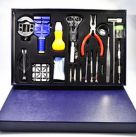 Wholesale horloge repar Professional Watch Repair Tool Kit Set With Case Watch Tools Watchmakers Tool Kit Watch Case Opener Hand Remover Holder