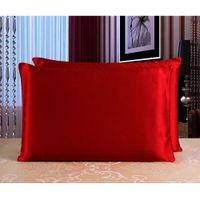 Wholesale 100 Mulberry Silk Pillow Case Zipper Pillowcase Multicolor Bedding Supplies
