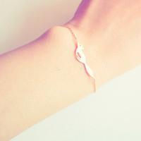 5pcs / lot oro / plata Tiny cola de zorro pulseras del encanto pulseras Running Fox Vivid accesorio Fox para las mujeres B16