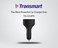 Wholesale Tronsmart TS CC4PC Ports Quick Charge Car Charger for Samsung Galaxy S6 Zenfone LG G4 Xiaomi