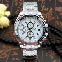 anti shock watch - Men Watch Three Eyes Six Pin Fashion Business Stainless Watchband Quartz Movement Anti Shock Anti Magnet Life Waterproof Wristwatch