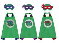 Wholesale 2016 kids capes kids Superhero Cape Super hero Ninja Turtles Batman Spiderman Captain America Supergirl kids capes with mask fast shipping