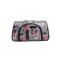 Wholesale REAMIC American flag Pet Travel outdoor single shoulder Handbag backpack for small pet cats and dogs
