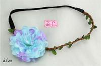Wholesale Woven Floral Hair Band Flower Headband Party Beach Weddings Crown Hair Garland EFC
