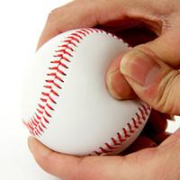 Wholesale 2016 New quot Handmade Baseballs PVC Upper Rubber Inner Soft Baseball Balls Softball Ball Training Exercise Baseball Balls