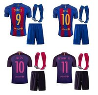 Wholesale Top thai quality E Barcelona Set football jersey Quarter adults tees Free number printed WDD