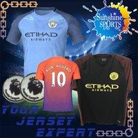 Wholesale 16 Man City Soccers Jerseys KUN AGUERO DE BRUYNE best Quality Manchesters City Jerseys Camiseta de futbol Footballs Shirts uniforms