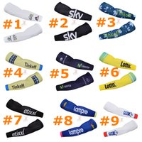 arm protection sleeves - Pro Team SKY FDJ Quick Step Lampre Tinkoff Cycling Arm Sleeve Summer Arm Protection UV Arm Sleeves Compression Quick Dry Arm Warmers