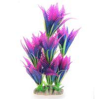 Wholesale High Artificial Short Coconut Tree Grass Water Aquarium Decor Colorful Plastic Decoration