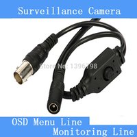 Wholesale Security surveillance camera white black gray OSD menu BNC DC switch control line tails