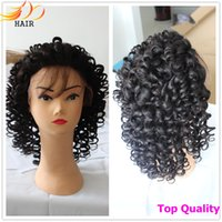 Wholesale lace wig gluless virgin human hair Full Lace lace front wig with baby hair body wave curly straight natural color best price