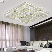 amber surface - stainless steel LED Ceiling Lights square room bedroom quality guarantee restaurant amber crystal LAMPS Hotel Lighting
