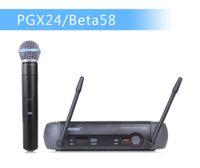 beta wireless microphone - PGX PGX24 BETA58 UHF Karaoke Wireless Microphone System With Super Cardioid BETA Handheld Microfone Microfono Mic