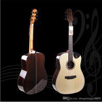 Wholesale 41 inch Folk Acoustic Guitars Top Grade A Shabili Single Spruce Veneer Mahogany Hollow Travel Guitars for Kids Adults