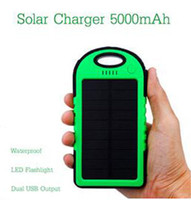 Wholesale Factory Price Cheap USB Port MAH Waterproof Solar Power Bank Portable Charger External Battery for iPhone HTC Samsung Other Devices