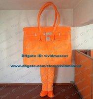 adult costume shop - Vivid Orange Reticule Hand Bag Tote Carry Bag Shopping Bag Sack Pocket Mascot Costume Cartoon Character Mascotte Adult NO