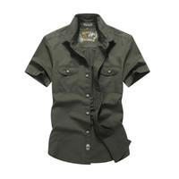 Wholesale New Mens Shirts Short Sleeve Cotton Mens Casual Shirts Solid Turn down Collar Mens Dress Shirts JPZC1691