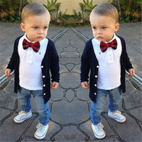 baby boy vintage clothing - halloween baby boy clothes newborn boys suits shirts pants T shirt boys clothing vintage gentleman boys clothing sets