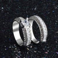 Wholesale Han edition hit unique combination of fashion and personality s925 ring ring high quality zircon platinum couples an engagement ring