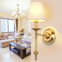 Wholesale New Pure copper contracted American country full led copper bedroom chandeliers Can be customized