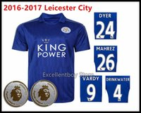 Wholesale TOP thai NEW Leicester City soccer jerseys Home Blue Vardy Mahrez INLER Drinkwater Leicester City jerseys ulloa OKAZAKI