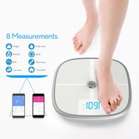 Wholesale US Stock Koogeek Smart Health Scale Bluetooth WiFi Sync Measures Muscle Bone Mass BMI BMR and Visceral Fat Weight Body Fat Water Users